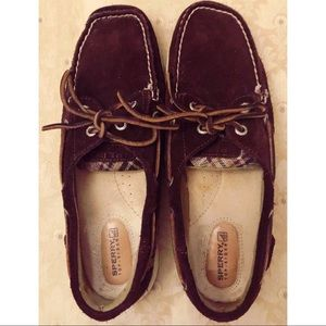 Sperry Top Siders suede and flannel loafers